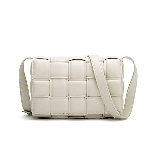 Woven Crossbody Handbag Purse for Women, Small Shoulder Messenger Bag Clutch Wallet Square Bag