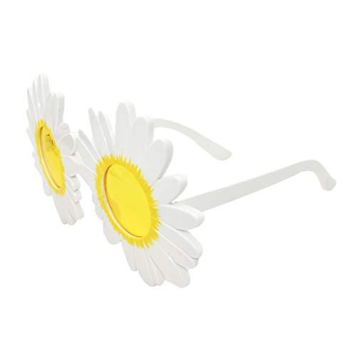 BESTOYARD Lustige Disguise Gänseblümchen Blumen Form Sonnenbrille Gläser Kostüm Gläser Cosplay Party Gastgeschenk (Rosa)