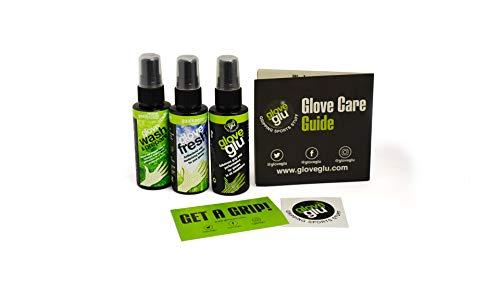 gloveglu Handschuhpflege Essentials Pack – Mini, Handschuh waschen & vorbereiten, Handschuh-Fresh + Pflegeanleitung + Aufkleber