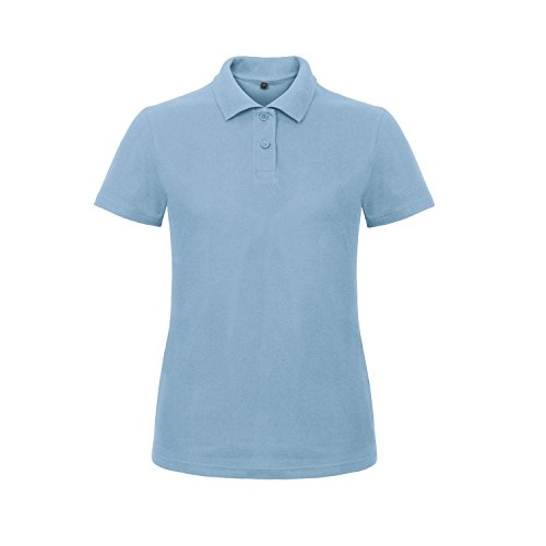 B&C Damen Women's Id.001 Polo Poloshirt, Blau (Light Blue 000), 44 (Herstellergröße: 2XL)