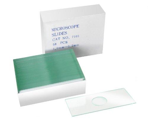 Bresser Mikroskop 50x Objektträger mit Vertiefung zur Untersuchung von Flüssigkeiten und Organismen