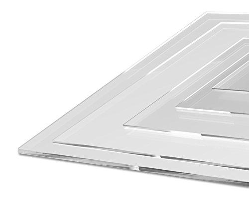 UV-Stabil Kanten entgratet Zuschnitte  St/ärke 2 mm DOLLE Acrylglas XT PMMA   Glasklare Platte in 500 x 250 mm F/ür Innen und Au/ßen