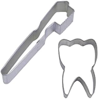 2 Piece Tooth & Toothbrush Cookie Cutter Set Dentist Party