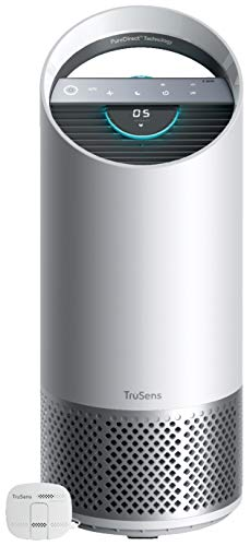 TruSens Z-2000 Air Purifier | Remote SensorPod | 360 HEPA Filtration with Dupont Filter | UV Light Sterilization Kills Bacteria Germs Odor Allergens in Home | Dual Airflow for Full Coverage (Medium)