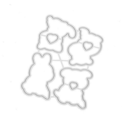 dise/ño de bordes de perro creativos Troqueles de corte plantilla de corte de metal tarjeta de papel para manualidades hecho a mano