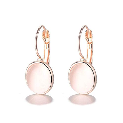 Fashion Pink Oval Opal Clip Earrings 925 Sterling Silver Wedding Earrings For Bride Wedding Gifts Jewelry
