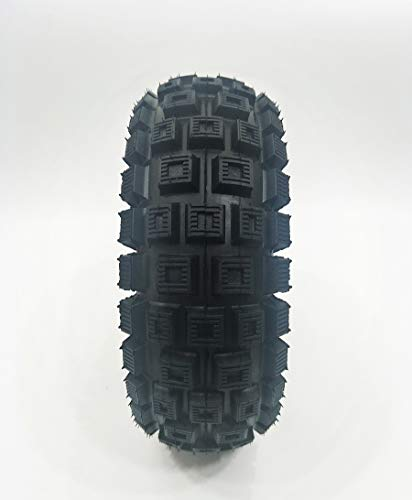 """AlveyTech 10""""x3"""" (3.00-4, 260x85) Knobby Scooter, ATV, Go Kart Tire with Q113 Knobby Tread"""
