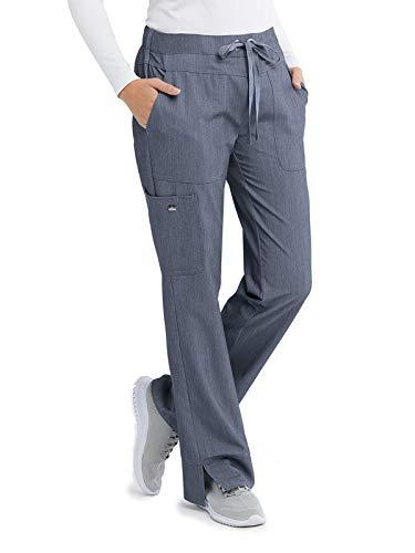 Barco Grey's Anatomy Signature 2207 Women's Three-Pocket Low-Rise Scrub Pant Denim Shade M