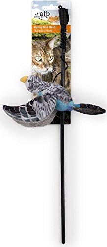PETGARD Katzenspielzeug Katzenangel Fliegender Vogel Natural Instincts - Flying Bird Wand - blau