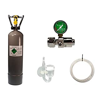 Guemmer products co2 Anlage Aquarium Komplett-Set mit Mehrwegflasche