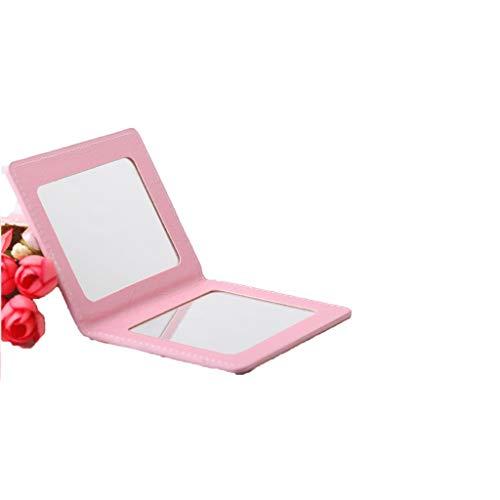 C-J-Xin Miroir recto-verso, Fold coloré Mini Mirror Girl Makeup Studio Voyage Portable Miroir Creative Rectangle Beauté Miroir 10 * 8 cm Miroir de maquillage (Color : D, Size : 10 * 8CM)