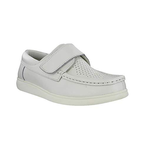 Dek Unisex Klettverschluss Bowling Schuhe (8 UK/42 EU) (Weiß)