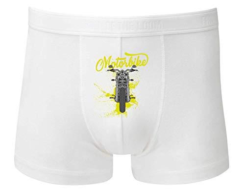 Druckerlebnis24 Boxershort - Motorrad Route66 Harley Chopper - Unterhose für Herren und Männer