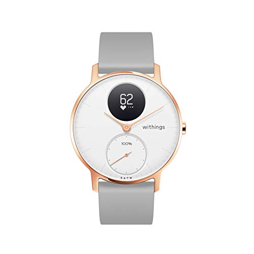 Withings Steel HR Hybrid Smartwatch - Activity, Sleep, Fitness and Heart Rate Tracker with Connected GPS,...