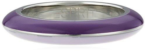 ESPRIT - Anillo de Acero Inoxidable con ónice, Color Lavanda, Talla 60 (19.1)