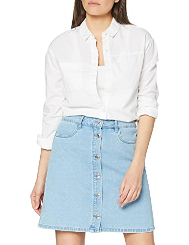 ONLY NOS Damen Onlfarrah Reg Dnm Skirt Bj14427 Noos Rock Blau (Light Blue Denim), 36 (Herstellergröße:36.0)