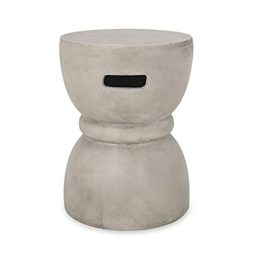 Christopher Knight Home Patrick Indoor Contemporary Lightweight Accent Side Table, Concrete Finish