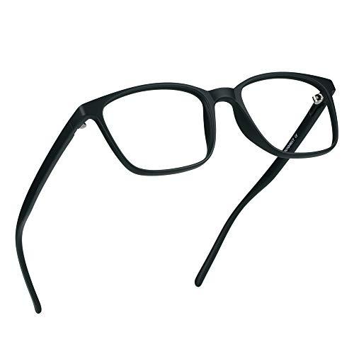 LifeArt Gafas de bloqueo de luz azul, gafas de lectura de computadora, gafas de juegos, gafas de TV para mujeres y hombres, antirreflejos (negro, aumento de 3,75)
