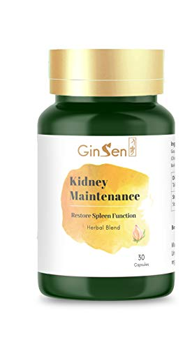 GinSen Kidney Maintenance, Cleanse and Detox, 30 Capsules of Natural Botanical Extract to Support Optimal Health, Reduces Frequent Urination, Herbal Supplement, Chinese Medicine
