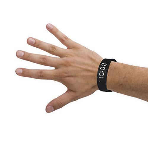 Black Pivotell Vibratime Vibrating Reminder Watch - mit bis zu 8 Alarmen pro Tag