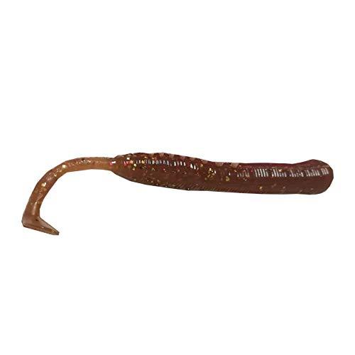 Dieter Eisele dubbele rijger XL - 3 rubberen wattenwormen voor het vissen op de zee op kabeljauw & platviss, zee-aas voor het vissen op kabeljauw vissen, rubberig, kleur: motorolie