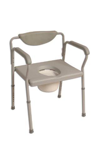 Toilettenstuhl (extra breit, höhenverstellbar)
