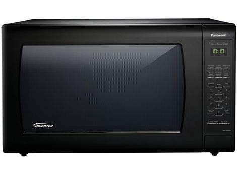 Panasonic 2.2 Cu. Ft. 1250W Genius Sensor Countertop Microwave Oven with Inverter Technology in Black
