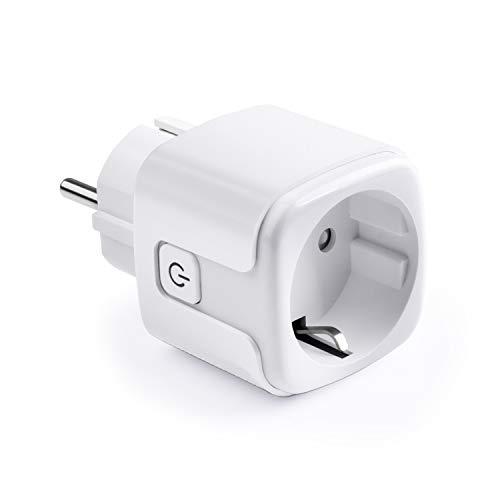 Smart WiFi-Steckdose TOPESEL WLAN Steckdose WiFi-Stecker Sprachsteuerung Plug Ferngesteuerte Stecker, Kompatibel mit Alexa Google Home IFTTT Android iOS, Nur 2,4 GHz Netzwerk, Weiß