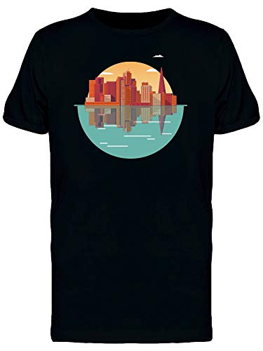 Camiseta masculina com logotipo da Urban City, Preto, P