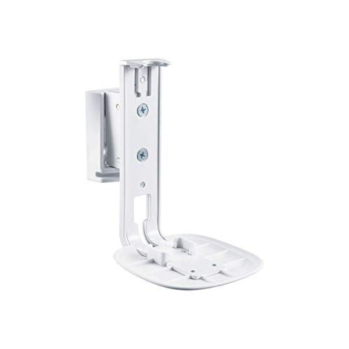 PureMounts PM-SOM-051 supporto a parete compatibile con SONOS ONE e PLAY 1, inclinabile: 0 ° - 18 °, inclinabile: -45 ° - 45 °, distanza dalla parete: 171mm, capacità di carico: 3 kg, bianco
