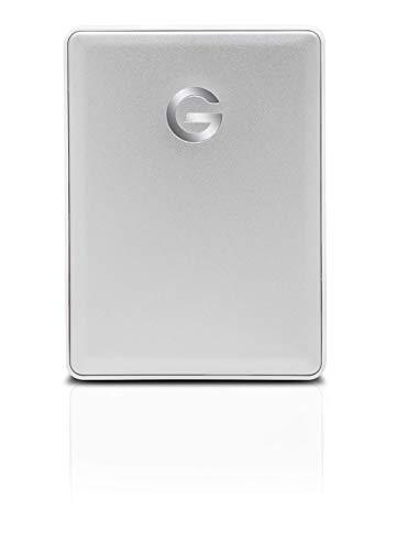 G-Technology G-Drive Mobile USB-C - Disco Duro Portátil, 2 TB, Plateado