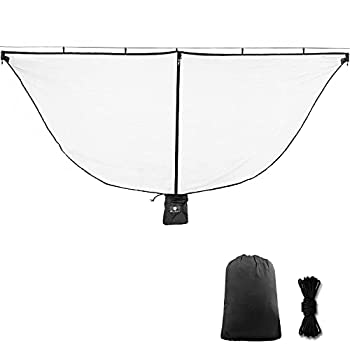Alucky Hammock Net Camping Mosquito Net No See Ums & Repels Insect Polyester Netting for 360 Degree Protection Double Sided Zipper for Easy Access Fits for All Camping Hammocks Black