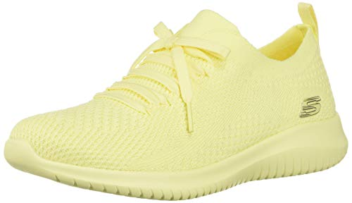 Skechers Ultra Flex-Pastel Party, Zapatillas para Mujer, Amarillo (Yellow Yel), 37 EU