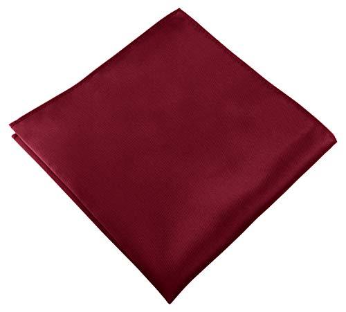Helido Einstecktuch für Herren, 30 x 30 cm, Stoff-Taschentuch passend zu Anzug/Sakko – als Ergänzung zum Tuch eignen sich Fliege oder Krawatte (Bordeaux)