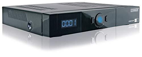SCHWAIGER -DSR691HDPL- Full HD Satellitenreceiver/ SAT Receiver/ USB 2.0-, HDMI-, SCART-Anschlüsse/ 576p, 720p, 1080p Full HD/ HD+ Karte/ schwarz