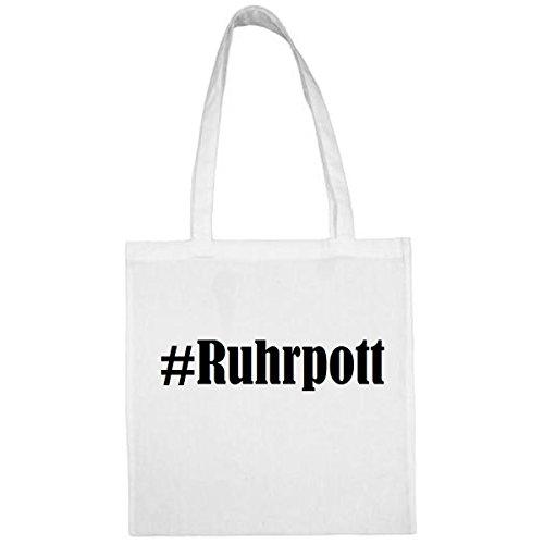 Tasche #Ruhrpott Größe 38x42 Farbe Weiss Druck Schwarz