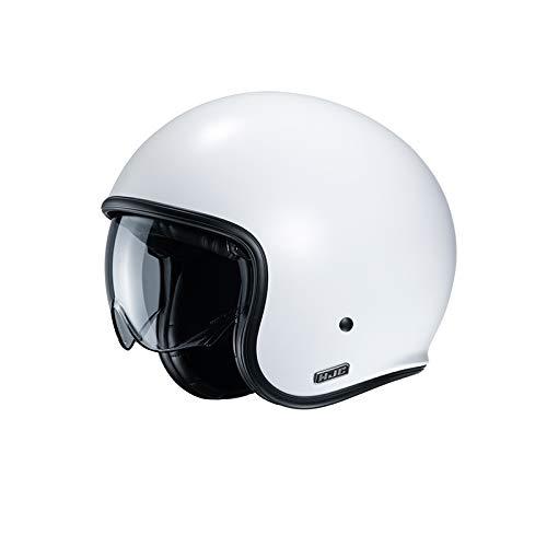 Casco moto HJC V30 SEMI MAT Bianco.P/SEMI FLAT P.WHITE, Bianco, L
