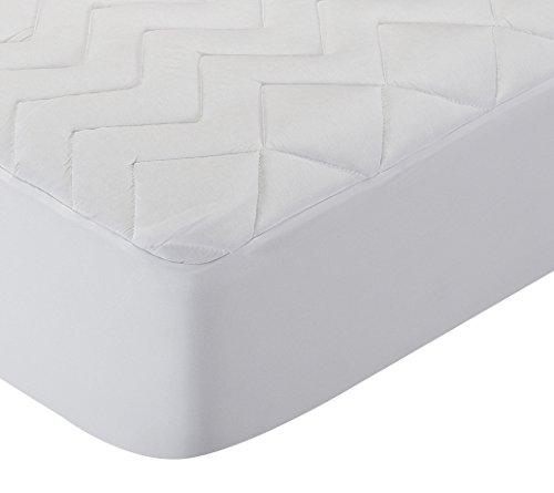 Pikolin Home matrasbeschermer, gewatteerd, van Lyocell, zeer ademend en zeer zacht Lit bébé - 60 x 120 cm Wit.