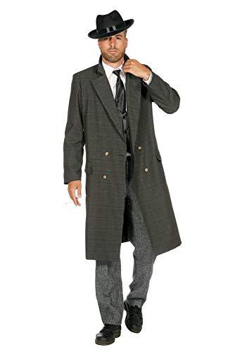 shoperama Disfraz de Mafia de los aos 20, color verde oliva y negro, babylon Berln The Roaring Twenties 20 's Mafiosi, talla: 58