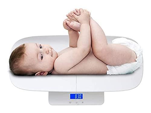 Baquetas Digitales Electronic Digital Pet Pear 100 kg / 220lb Muestra de la Pantalla LCD de la LCD con luz Trasera Herramienta for bebés Pet Cuerpo Que Pesa con precisión (Color : White)