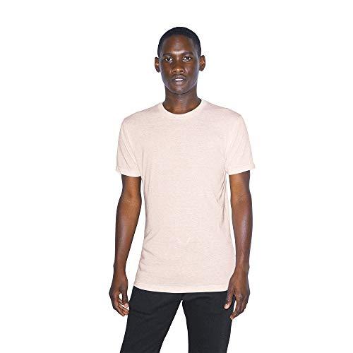 American Apparel Unisex-Erwachsene Tri-Blend Crewneck Track Short Sleeve T-Shirt, Haferflocken, X-Groß