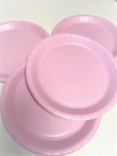 EFE - Plato de papel (20,32 cm, 21 cm), color rosa