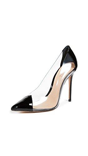 SCHUTZ Women's Cendi Pointed-Toe Leather Dress Pump Black