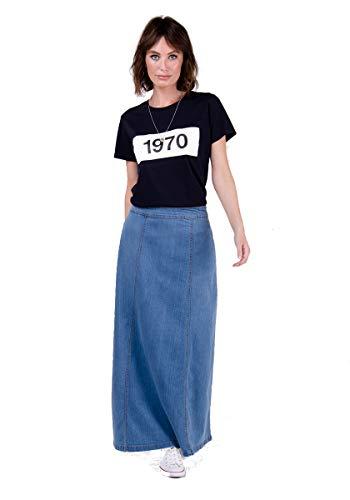 Matilda Langer Jeansrock - Pale wash Maxi-Rock Damen Mode EU 36-50 MATILDAPW-18