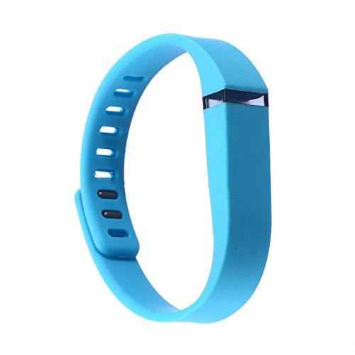 Waymeduo Pulsera de reemplazo de Pulsera Hebilla de Metal para Pulsera Fitbit Flex Correa de Silicona de Repuesto Correa de muñeca de Color sólido Royal Blue