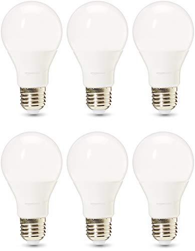 AmazonBasics, lampadine LED professionali, attacco Edison E27, equivalenti 75W, luce Bianca Fredda, Regolabile - confezione da 6