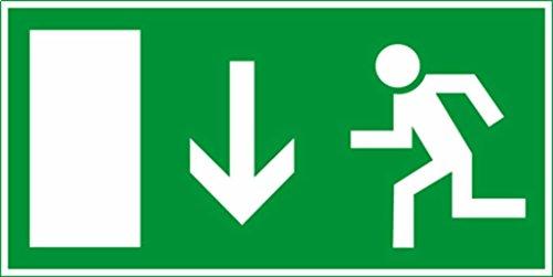Notausgang Rettungsschild, PVC, 30x15 cm, nicht nachleuchtend - Sicherheit Firma Büro Farbik Kino Schule