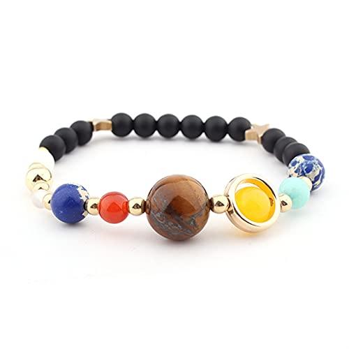 JKLJKL Bracelets Pulsera Ajustable Pulsera de Piedra Natural Regalo de Las Cuentas Pulsera (Metal Color : B6044)
