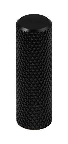 Gedotec meubelgreep antiek zwart mat - aluminium meubelknop vintage - GRAF | kastknop keuken voor laden & kastdeuren | deurknop Ø 10 mm | 1 stuk - design meubelknop rond met schroeven modern 1 Stück Aluminium zwart mat