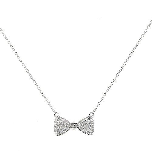 Judith Williams Touch of Diamonds Damen-Schleifen-Collier Sterling-Silber 925 Zirkonia weiß 46cm